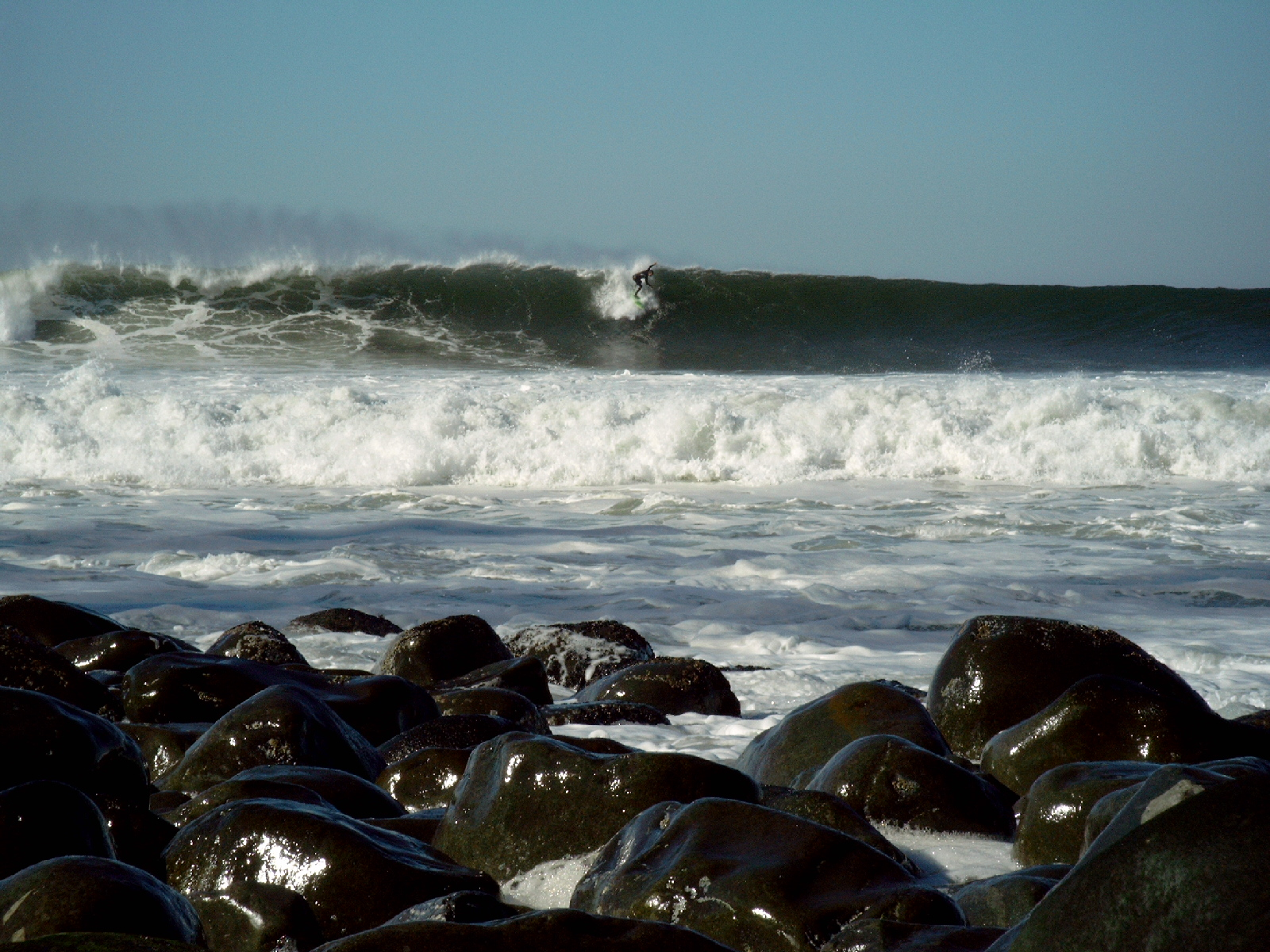 surf and rocks